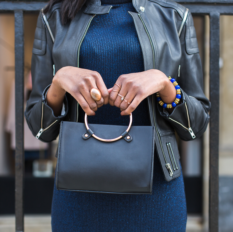 Golden Connexion : bleu x vestes en cuir