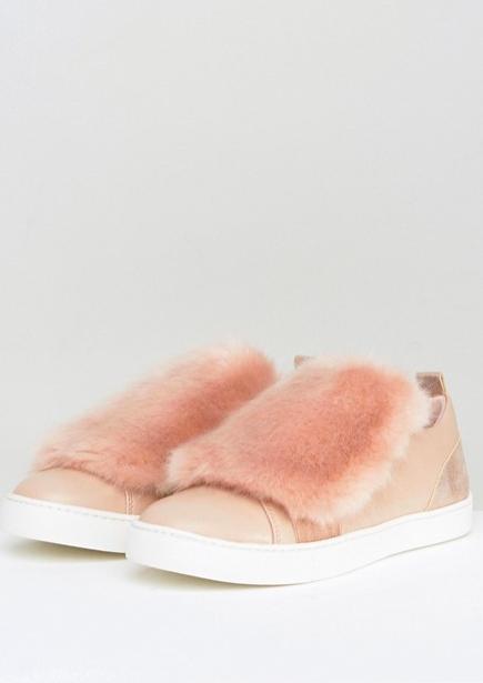 Aldo athelina faux fur sneakers