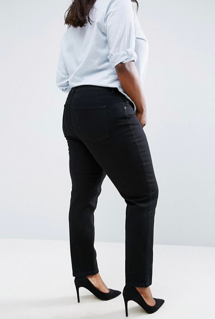 Farleigh slim mom jeans in clean black