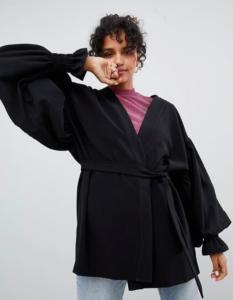 Monki Balloon Sleeve Kimono Jacket