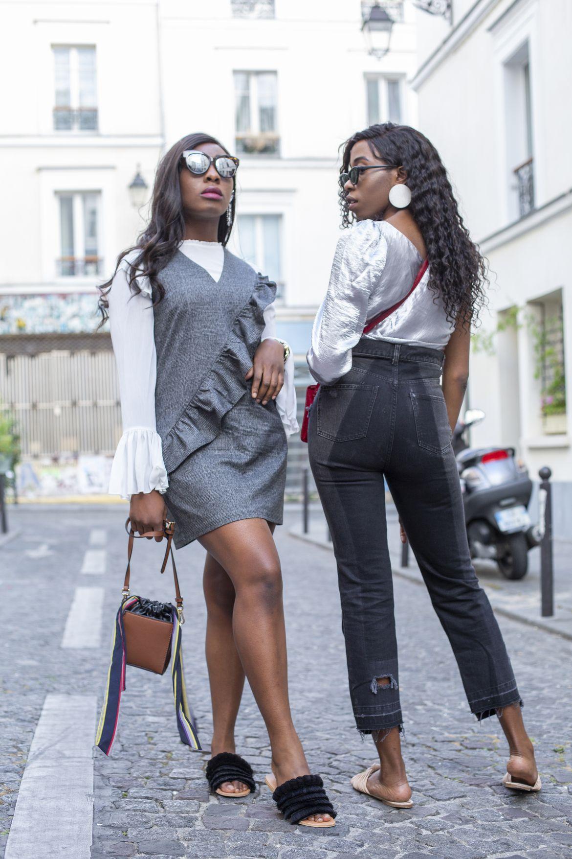 Golden Connexion : metallic grey looks black bloggers
