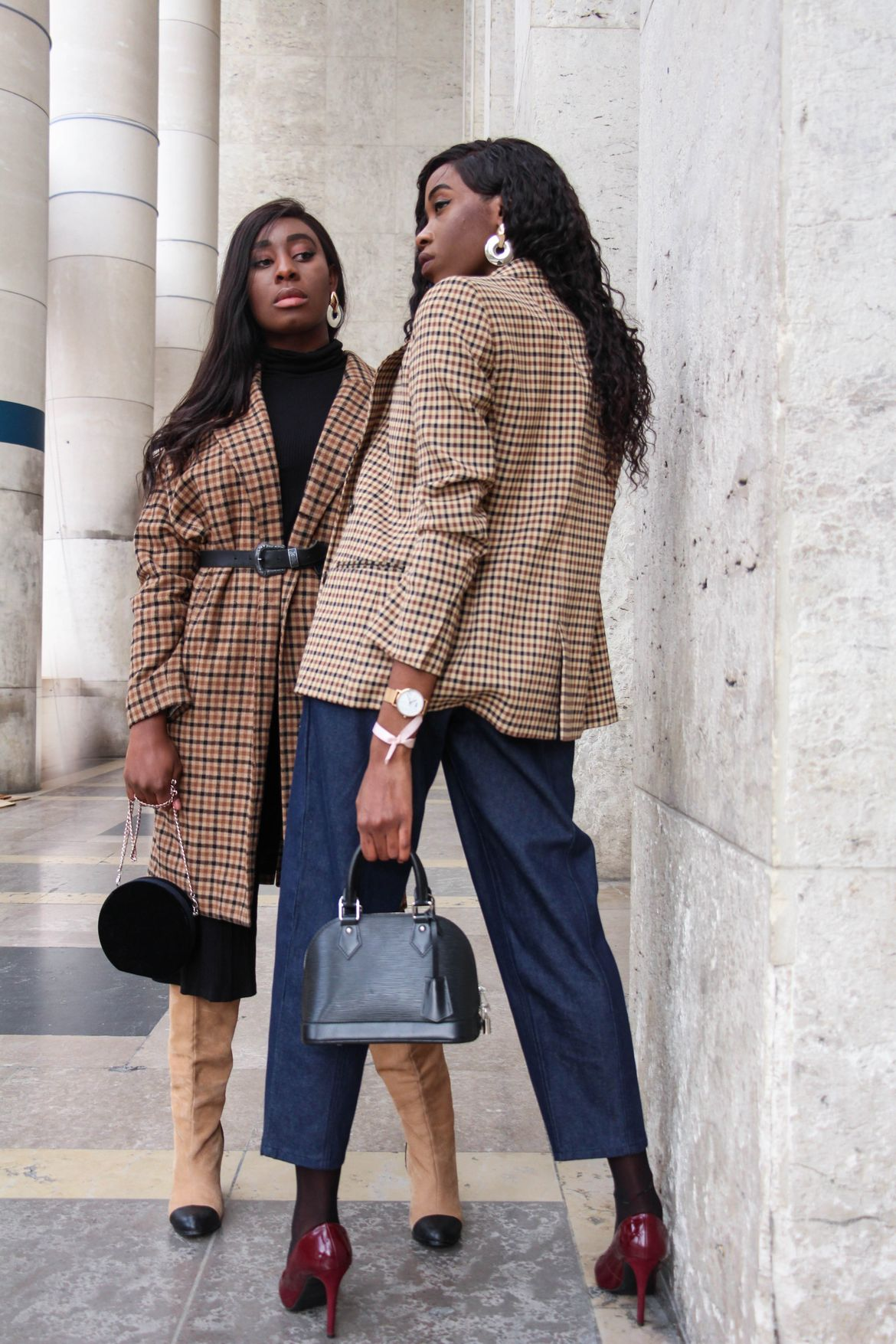 Golden Connexion : checkered prints, loving it, fashion bloggers